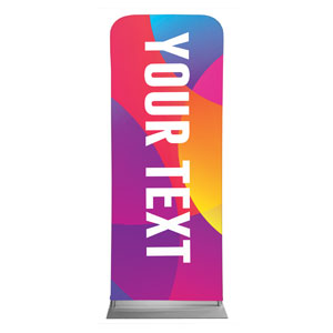 "Curved Colors Your Text 2'7"" x 6'7"" Sleeve Banners"