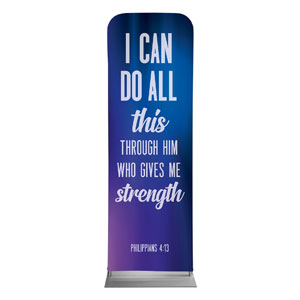 Aurora Lights Phil 4:13 2 x 6 Sleeve Banner