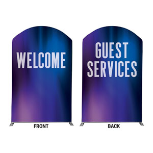 Aurora Lights Welcome Guest Services 5' x 8' Curved Top Sleeve