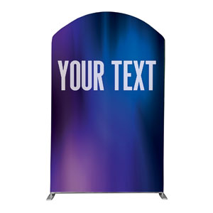 Aurora Lights Your Text Here 5' x 8' Curved Top Sleeve