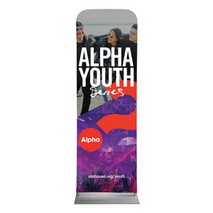 Alpha Youth Purple 2 x 6 Sleeve Banner