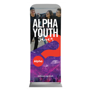"Alpha Youth Purple 2'7"" x 6'7"" Sleeve Banners"