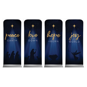 "Christmas Star Hope is Born Advent Set 2'7"" x 6'7"" Sleeve Banners"