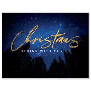 Night Sky Gold Script Christmas Jumbo Banners