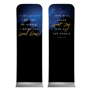 Night Sky Gold Script Luke 2 2 x 6 Sleeve Banner