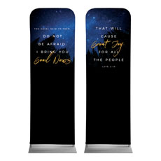 Night Sky Gold Script Luke 2
