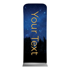 Night Sky Gold Script Your Text