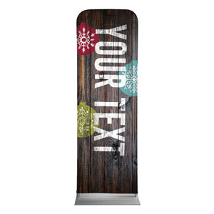 Dark Wood Christmas Ornaments Your Text 2 x 6 Sleeve Banner