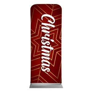 "Red and Gold Snowflake 2'7"" x 6'7"" Sleeve Banners"