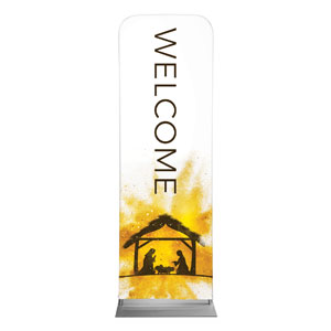 Gold Powder Creche Welcome 2 x 6 Sleeve Banner
