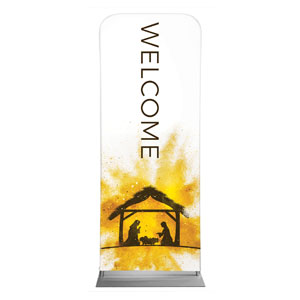 "Gold Powder Creche Welcome 2'7"" x 6'7"" Sleeve Banners"