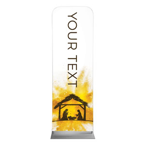 Gold Powder Creche Your Text 2 x 6 Sleeve Banner
