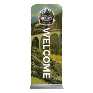 "Rocky Railway Welcome 2'7"" x 6'7"" Sleeve Banners"