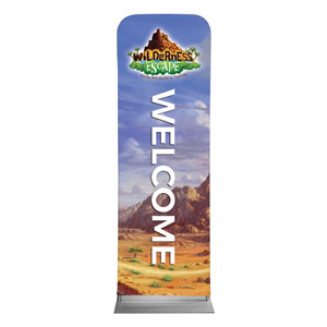 Wilderness Escape Welcome 2 x 6 Sleeve Banner