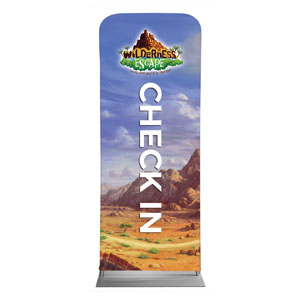 "Wilderness Escape Check-In 2'7"" x 6'7"" Sleeve Banners"