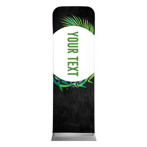 Easter Palm Crown Your Text 2 x 6 Sleeve Banner