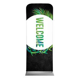 "Easter Palm Crown Welcome 2'7"" x 6'7"" Sleeve Banners"