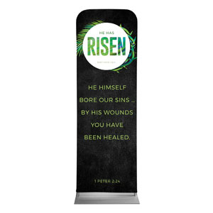 Easter Palm Crown Scripture 2 x 6 Sleeve Banner