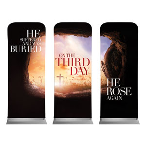 "Third Day Triptych 2'7"" x 6'7"" Sleeve Banners"