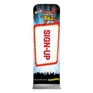 Go Fish Backstage With The Bible Sign Up 2 x 6 Sleeve Banner