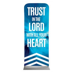 "Chevron Blue Scripture 2'7"" x 6'7"" Sleeve Banners"