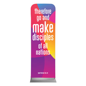 Curved Colors Scripture 2 x 6 Sleeve Banner