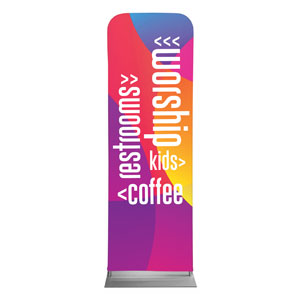 Curved Colors Directional 2 x 6 Sleeve Banner