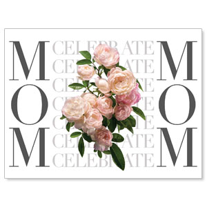 Celebrate Mom Flowers Jumbo Banners