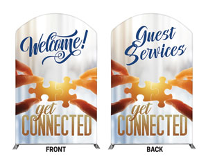 Connected Welcome Guest Services 5' x 8' Curved Top Sleeve