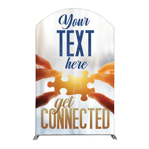 Connected Your Text 5' x 8' Curved Top Sleeve