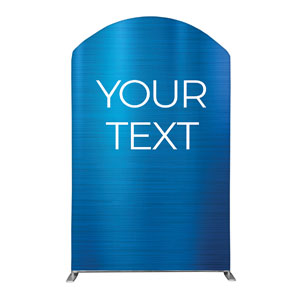 General Blue Your Text 5' x 8' Curved Top Sleeve