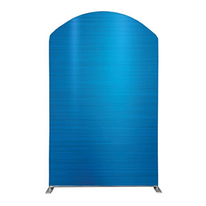 General Blue Backdrop 5' x 8' Curved Top Sleeve