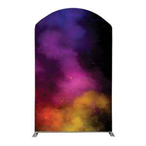 Dark Smoke Backdrop 5' x 8' Curved Top Sleeve