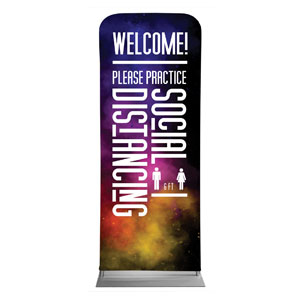 "Dark Smoke Welcome Back Distancing 2'7"" x 6'7"" Sleeve Banners"