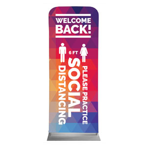 "Geometric Bold Welcome Back Distancing 2'7"" x 6'7"" Sleeve Banners"