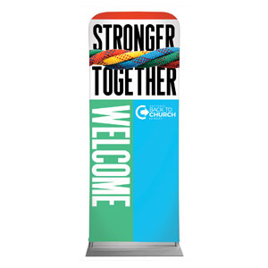 "BTCS Stronger Together Welcome 2'7"" x 6'7"" Sleeve Banners"