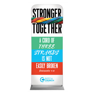 "BTCS Stronger Together Scripture 2'7"" x 6'7"" Sleeve Banners"