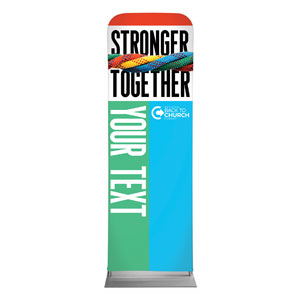 BTCS Stronger Together Your Text 2 x 6 Sleeve Banner