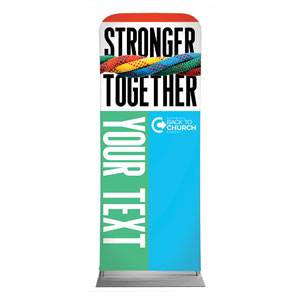 "BTCS Stronger Together Your Text 2'7"" x 6'7"" Sleeve Banners"