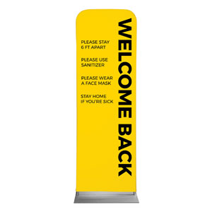 Yellow Welcome Guidelines 2 x 6 Sleeve Banner
