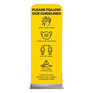 "Yellow Guidelines 2'7"" x 6'7"" Sleeve Banners"