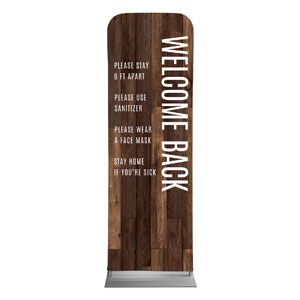 Walnut Welcome Guidelines 2 x 6 Sleeve Banner