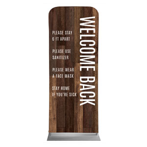 "Walnut Welcome Guidelines 2'7"" x 6'7"" Sleeve Banners"