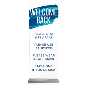 "Blue Paint Stroke Welcome Guidelines 2'7"" x 6'7"" Sleeve Banners"