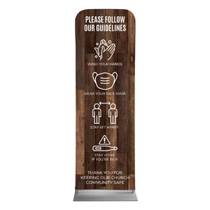 Walnut Guidelines 2 x 6 Sleeve Banner