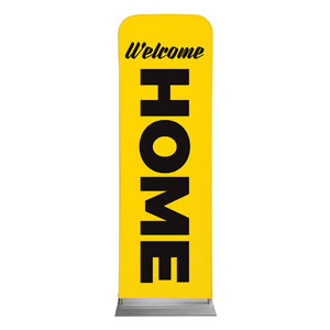 Yellow Welcome Home 2 x 6 Sleeve Banner