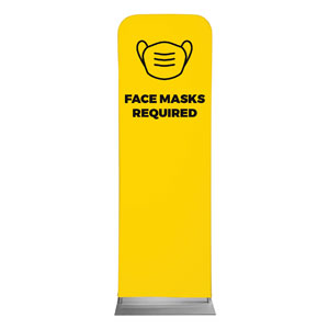 Yellow Face Masks Required 2 x 6 Sleeve Banner