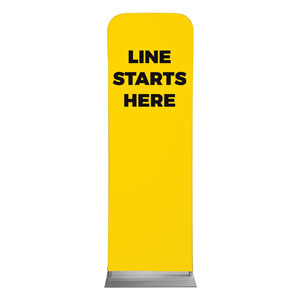Yellow Line Starts Here 2 x 6 Sleeve Banner