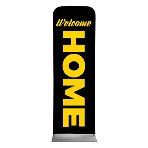 Jet Black Welcome Home 2 x 6 Sleeve Banner