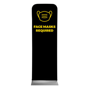 Jet Black Face Masks Required 2 x 6 Sleeve Banner